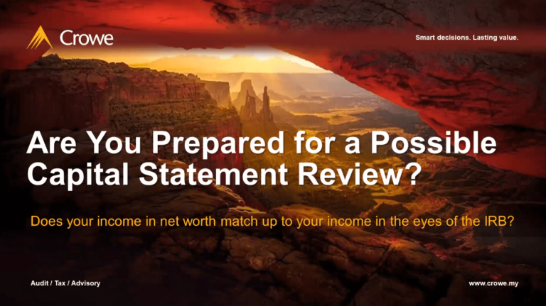 Are you prepared for a possible  Capital Statement Review? [English]