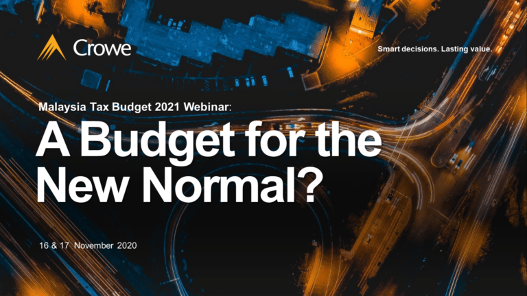 Budget Webinar 2021 [DAY 2] Malaysia Tax Budget 2021 Webinar: A Budget for the New Normal?