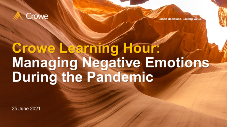 CLH #2: Managing Negative Emotions During the Pandemic