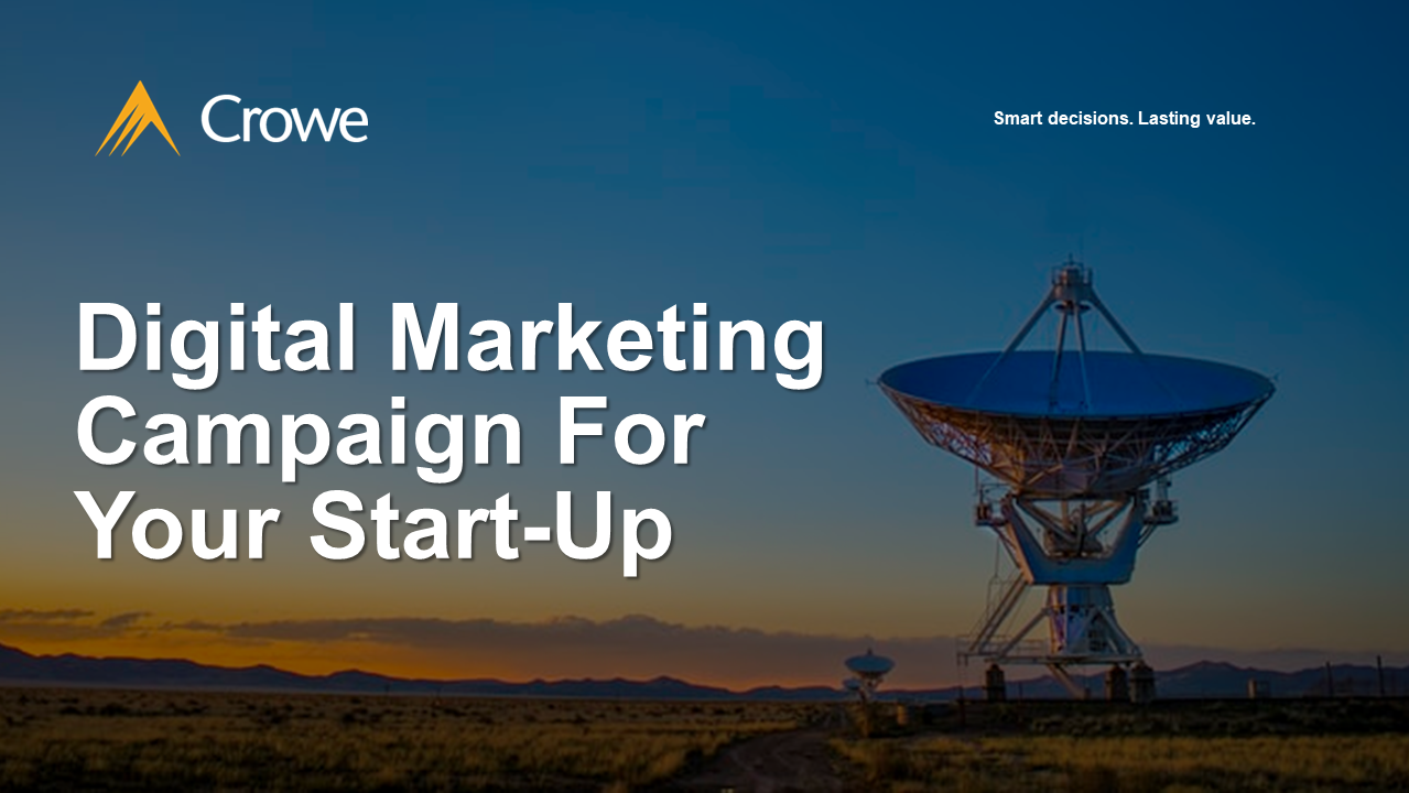 Digital Marketing Campaign For Your Start-Up