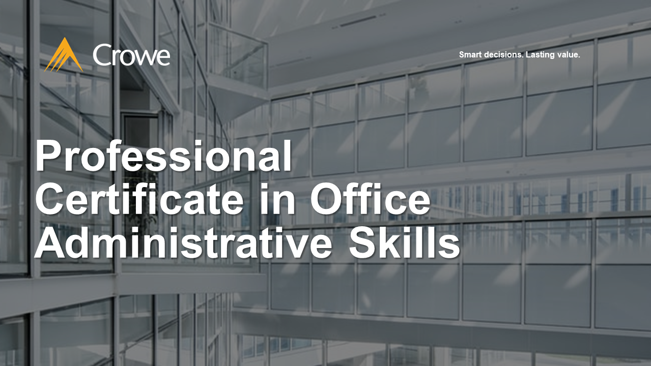 Professional Certificate in Office Administrative Skills