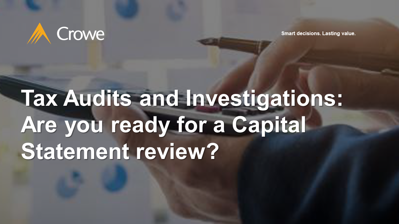 Are you ready for a Capital Statement Review