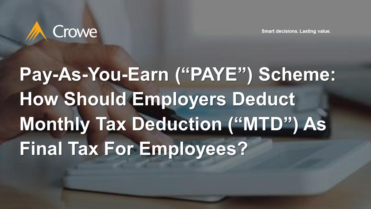 Pay-As-You-Earn (PAYE) Scheme