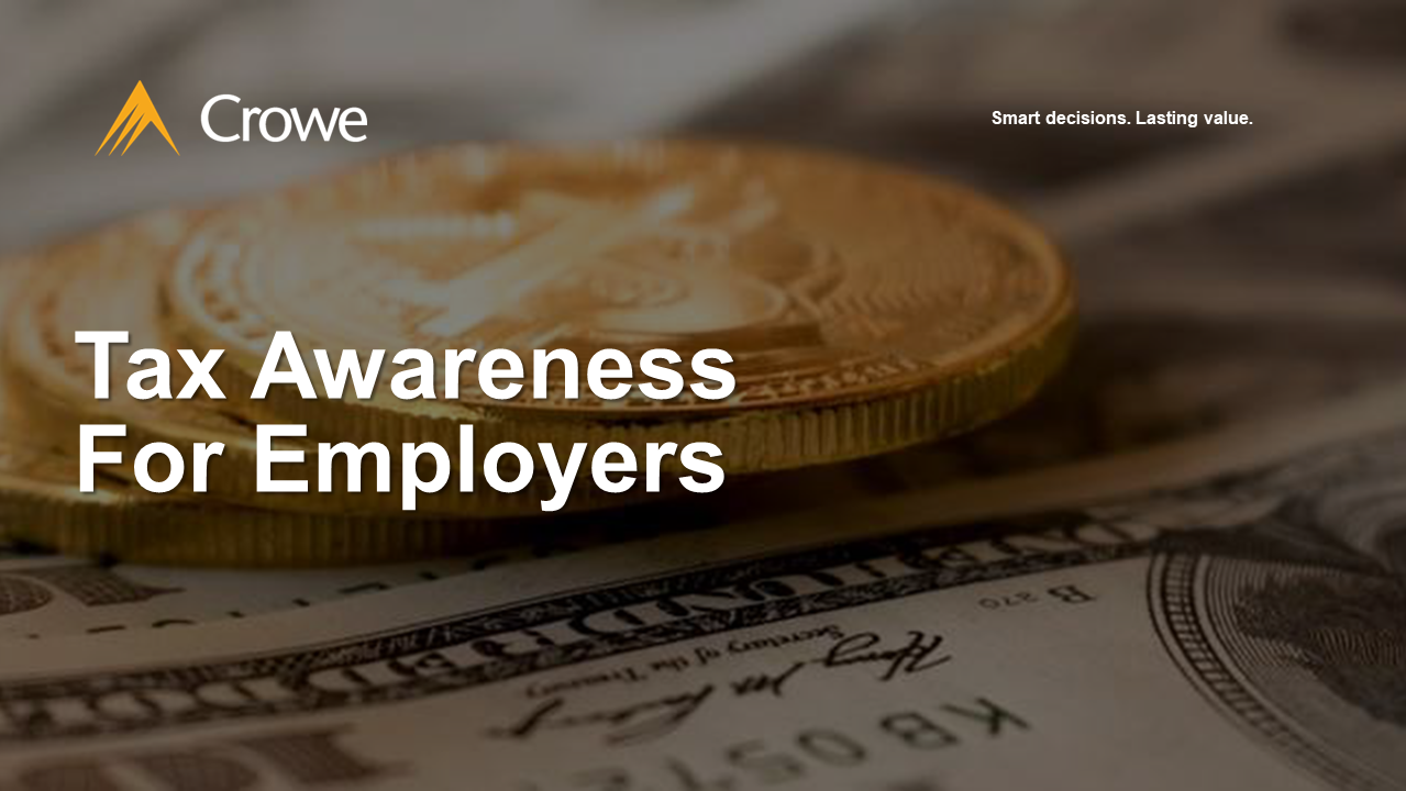 Tax Awareness For Employer