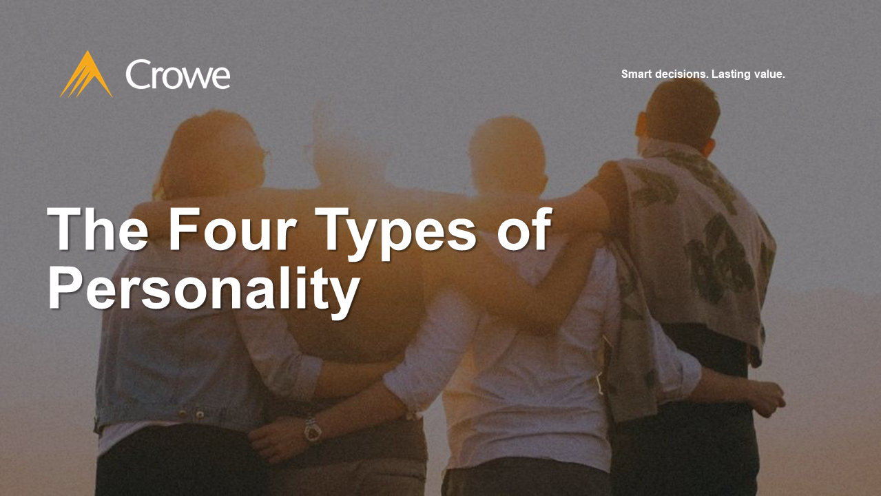 The Four Types of Personality